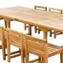 set 19 -- 43 x 77-117 inch double rectangular extension table xx-thick wood (tb-e009) & jordan side chairs