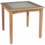 33 inch (b j) square dining table with frosted glass top (tb-l025)