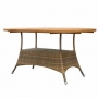 39 x 63 inch las pozas oval dining table color grand cognac (tpw-l001)