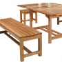 set 16 -- 41 x 46-70 inch double rectangular extension table (tb-e010) with classic backless benches (ch-067 r) & classic backless chairs (ch-0116 r)