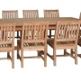 set 160 -- 39 x 130-177  inch rectangular extension table xx-thick wood (tb f-e015) & avalon side chairs