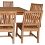 set 164 -- 39 x 130-177  inch rectangular extension table xx-thick wood (tb f-e015) & avalon side chairs