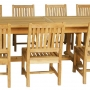 set 165 -- 39 x 130-177  inch rectangular extension table xx-thick wood (tb f-e015) & avalon side chairs