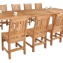 set 180 -- 39 x 78-118 inch rectangular extension table & balboa side chairs (ch-0109 r)