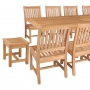set 182 -- 39 x 78-118 inch rectangular extension table with rialto backless chairs (ch-0130) & avalon side chairs (ch-0104)
