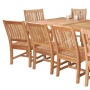 set 183 -- 39 x 78-118 inch rectangular extension table & avalon side chairs (ch-0104)