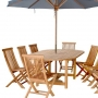 set 21 -- 47 x 63-87 inch oval extension table (tb-a003) with folding chairs (ch-139)