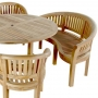 set 24 -- 59 inch round table (tb f-c003 a) with mystic armchairs (ch-032) & mystic benches (ch-034)