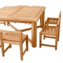 set 25 -- 63 inch square dining table xxx-thick wood (tb-l029) & jordan side chairs (ch-0162)