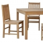set 34 -- kuai side chairs (ch-0167) & 41 inch square dining table (tb-l031)