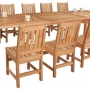 set 9 -- 39 x 78-118 inch rectangular extension table (tb-e006) & balboa side chairs (ch-0109 r)
