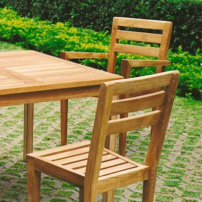 Set 129    41 Inch Square Dining Table, (b J) Stackable Armchairs,